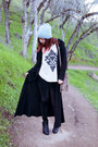 Black-cotton-on-leggings-off-white-tobi-top-black-maxi-thrifted-cardigan
