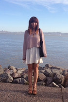 brown from Italy shoes - white For Love and Lemons dress