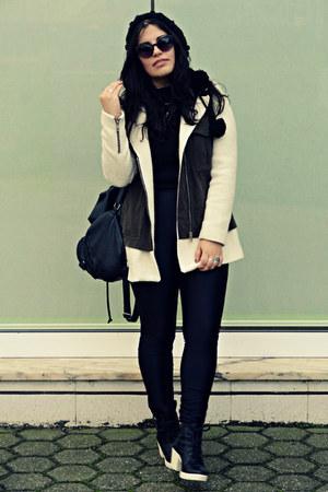 Zara coat - Bershka boots - Rings and Tings accessories