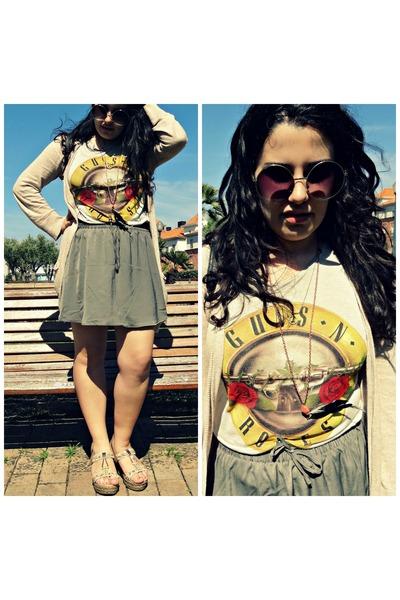 Lee cardigan - Lefties t-shirt - Pull and Bear skirt