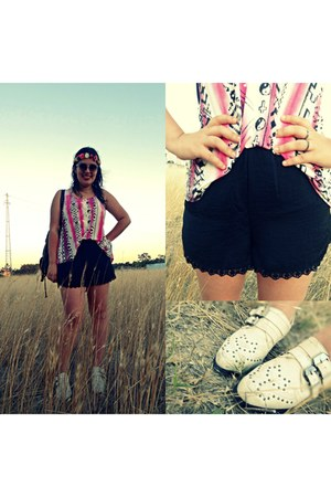 Tally Weijl top - River Island boots - pull&bear shorts