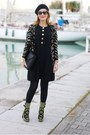 Black-studded-roberto-botticelli-boots-black-diane-von-furstenberg-dress