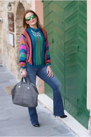 black Dolce & Gabbana shoes - blue Levis jeans - heather gray Givenchy bag