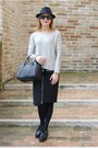 Black-h-m-hat-silver-nümph-sweater-black-givenchy-bag