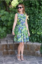 green floral dress closet dress - green Juicy Couture bag