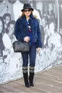 Black-cesare-paciotti-boots-navy-zara-jeans-black-replay-hat