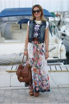 white floral print imperial skirt - brown Juicy bag