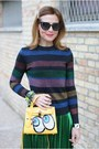 Yellow-playnomore-bag-black-fendi-sunglasses-violet-cesare-paciotti-heels