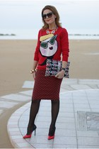 Moschino sweater and pencil skirt