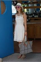 white Morgan de Toi dress - white Ecua-andino hat - black Roberta Pieri bag
