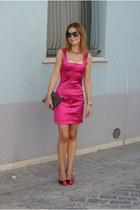 satins stretch Dolce & Gabbana dress - LORIBLU shoes - studded clutch Zara bag