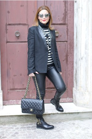 black albano shoes - black Pinko jacket - black Max Mara sweater