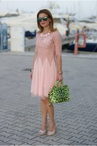 chartreuse miss sicily Dolce & Gabbana bag - light pink cichic dress
