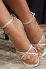 Silver-sandals