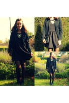 H&M dress - Zara blazer - H&M heels