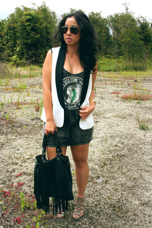 Kardashian Kollection bag - Forever 21 necklace - Pac Sun skirt - Pac Sun top