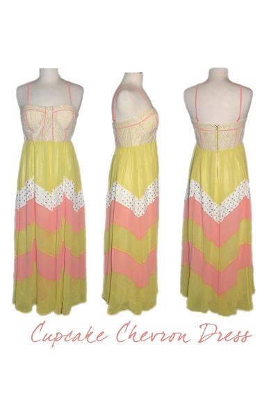 Champagne & Strawberry dress