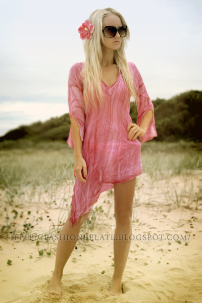 pink dress - white Rusty swimwear