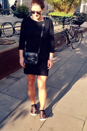 black Ganni dress