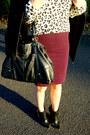 Black-forever-21-boots-white-h-m-sweater-crimson-forever-21-skirt