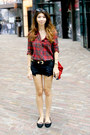 Ruby-red-forever-21-shirt-red-suede-zara-bag-navy-zara-shorts