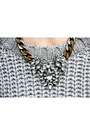 Black-h-m-boots-silver-statement-h-m-necklace