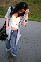 Michael Kors sweater - Dolce Vita boots - Urban Outfitters purse - Gap jeans