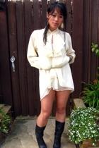 vintage dress - Jessica Simpson boots