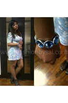 floral dress dress - gladiator heels Parisian heels - Dress Etc bracelet