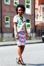 Floral-blouse-h-m-blouse-internacionale-skirt-studded-heels-f-f-heels