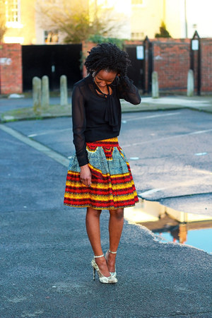 Fashioncadet boutique skirt - new look coat - snakeskin heels thrifted heels