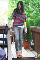 Jeffrey Campbell wedges - INC jeans - Grammy Label sweater - Rebecca Minkoff bag