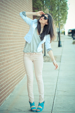 Monday Martini blazer - asos jeans - pocket tank Alexander Wang top