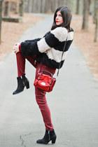 Topshop boots - Hudson jeans - Lancaster Paris bag