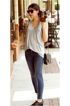 blue James Jeans jeans - gray Alexander Wang top - black vintage bag - black Pin