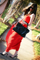balenciaga bag - maxi dress Armani Exchange dress - Ray Ban sunglasses