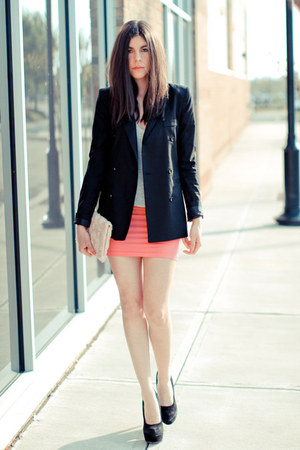 storets blazer - hm bag - asos skirt - asos heels - Alexander Wang t-shirt