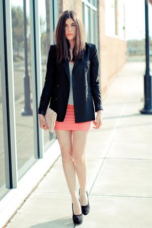 storets blazer - hm bag - asos skirt - asos heels - Alexander Wang t-shirt