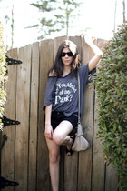 HoBo International bag - wildfox couture t-shirt - Jeffrey Campbell wedges