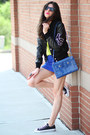 Varsity-american-college-jacket-hobo-international-bag-romwe-skirt