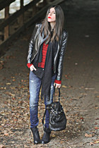 leather Armani Exchange jacket - Topshop boots