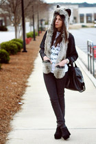 Spirit Hoods scarf - superfine jeans - Brashy Couture shirt