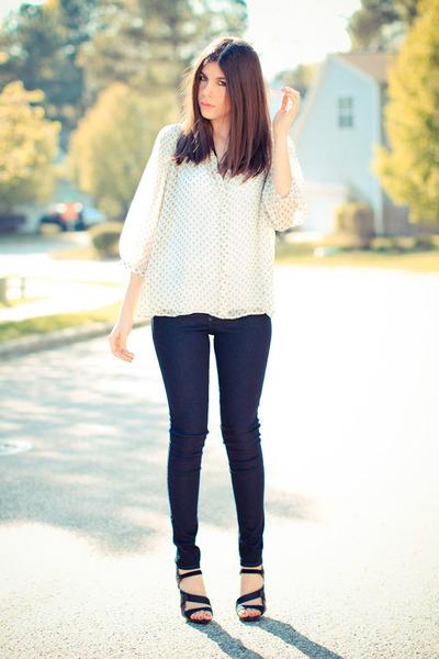 Black Orchid jeans - Heartloom blouse - LAMB sandals