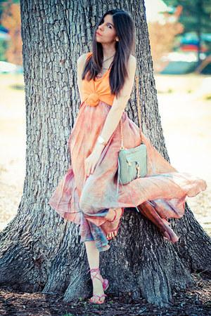 Rebecca Minkoff bag - maxi skirt Thrifted and Modern skirt