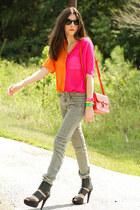 skinny Hudson jeans - shampalove bag - shampalove blouse