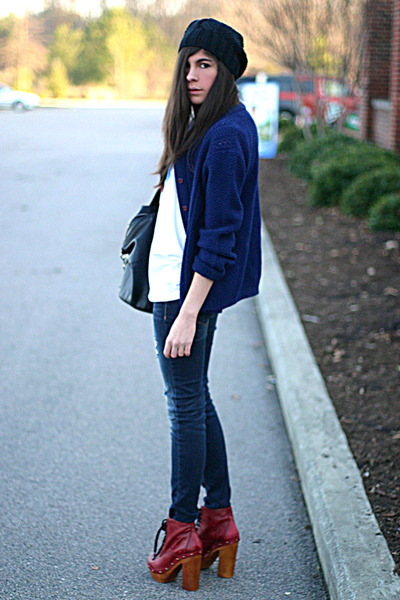 Jeffrey Campbell boots - American Eagle jeans - asos hat - nightingale bag - Mar