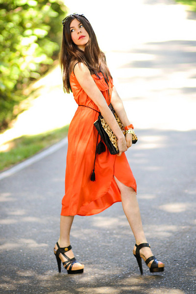 balenciaga sandals - romwe dress - shampalove bag - christian dior sunglasses