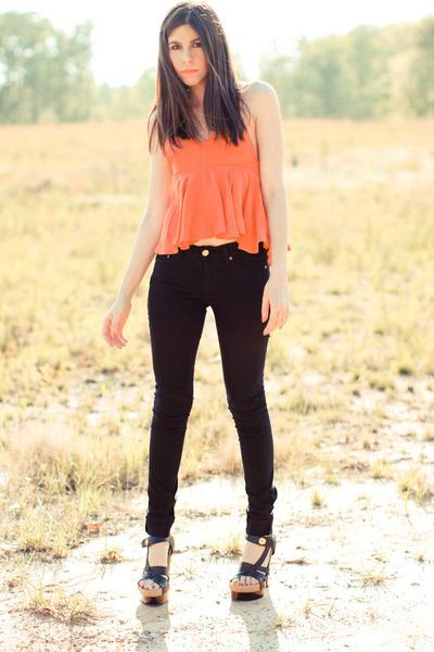 BDG jeans - Ysterike blouse - balenciaga sandals