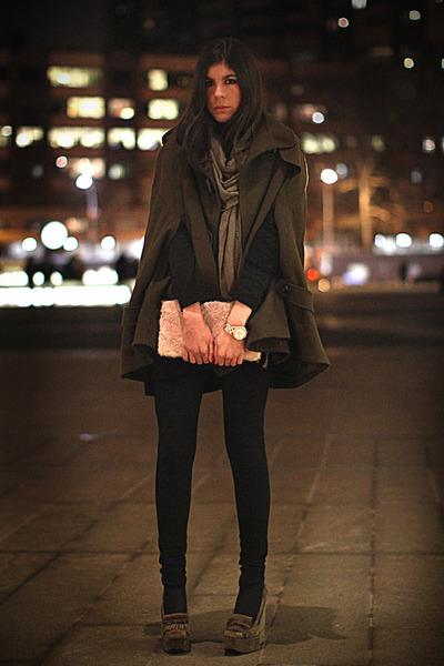 balenciaga shoes - H&M bag - Marc Jacobs watch - asos cape