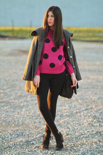 Topshop boots - Tulle coat - Torn sweater - So Low leggings - Alexander Wang bag
